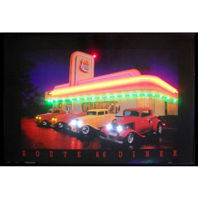 Neonetics Neon/led Pictures, Route 66 Diner Neon/led Picture