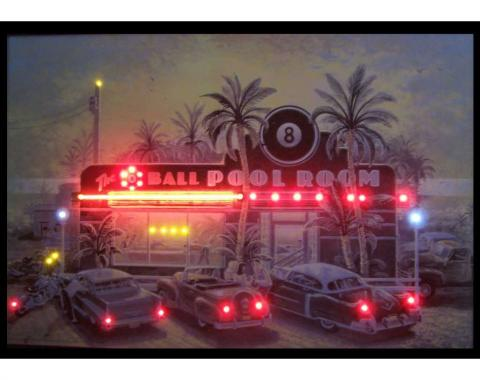 Neonetics Neon/led Pictures, 8 Ball Pool Room Neon/led Picture