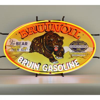 Neonetics Standard Size Neon Signs, Gas - Bruinoil Bruin Gasoline Neon Sign