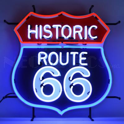Neonetics Standard Size Neon Signs, Historic Route 66 Neon Sign with Backing