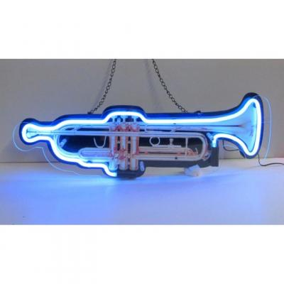 Neonetics Standard Size Neon Signs, Trumpet Shaped Neon Sign