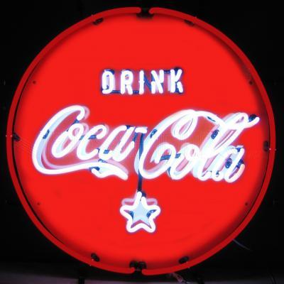 Neonetics Standard Size Neon Signs, Coca-Cola Red, White & Coke Neon Sign