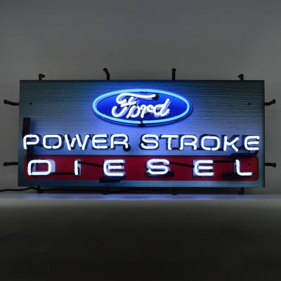 Neonetics Standard Size Neon Signs, Ford Power Stroke Diesel Neon Sign with Backing