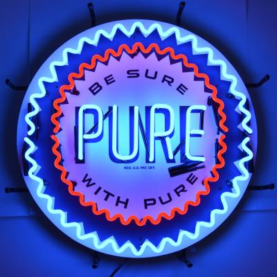 Neonetics Standard Size Neon Signs, Gas - Pure Gasoline Neon Sign with Backing