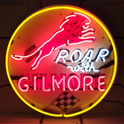 Neonetics Standard Size Neon Signs, Gas - Gilmore Gasoline Neon Sign