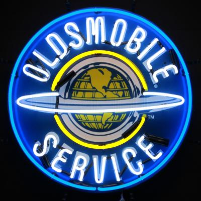 Neonetics Standard Size Neon Signs, Oldsmobile Service Neon Sign with Backing
