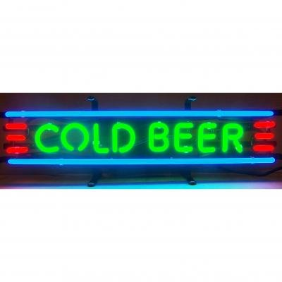 Neonetics Standard Size Neon Signs, Cold Beer Neon Sign