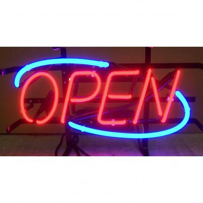Neonetics Standard Size Neon Signs, Open Blue Border Neon Sign