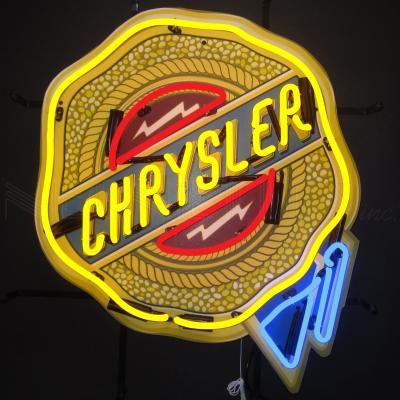 Neonetics Standard Size Neon Signs, Chrysler Badge Neon Sign with Backing