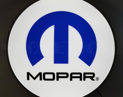 Neonetics Backlit and Specialty Led Signs, Mopar Omega M 15 Inch Backlit Led Lighted Sign