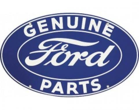 Genuine Ford Parts Sign, Double Sided With Hanger, 32 x 19-1/2