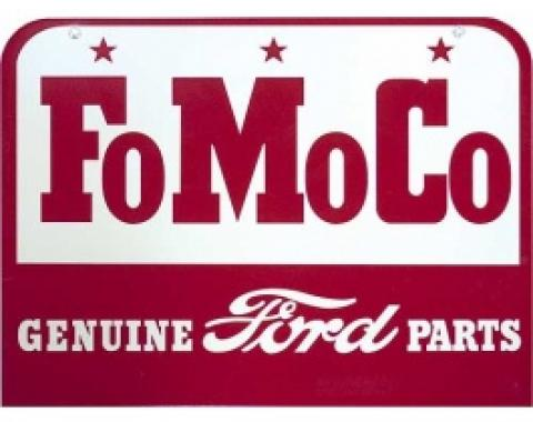 FoMoCo Genuine Ford Parts Sign, Single Sided, 18 x 13-1/2