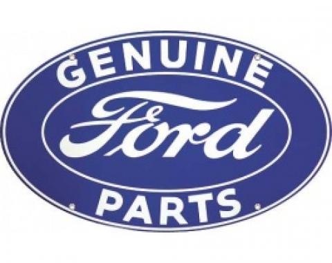 Genuine Ford Parts Sign, Single Sided, 32 x 19-1/2