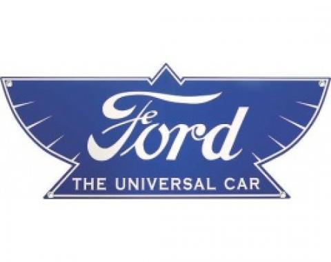 Ford THE UNIVERSAL CAR Sign, Single Sided, 18 x 7-1/2