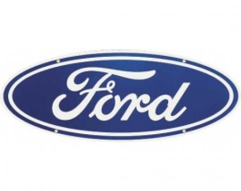 Ford Sign, Double Sided With Hanger, 30 x 11-1/2