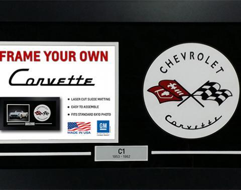 Corvette Frame Your Own with C1-C7 Logo Frame