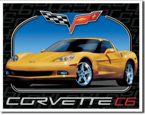 Corvette C6 Tin Sign