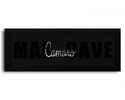 Generation 1 Camaro Script Framed Man Cave