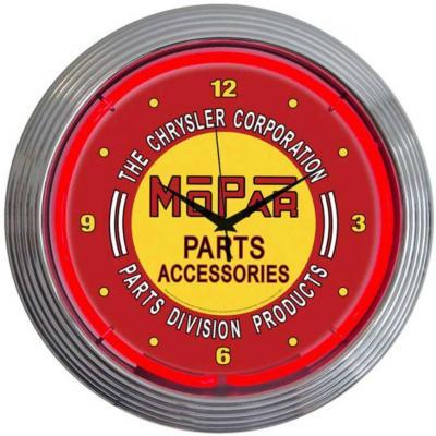Neonetics Neon Clocks, Mopar Red Vintage Neon Clock
