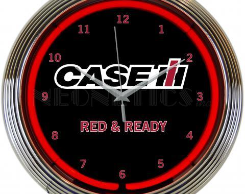 Neonetics Neon Clocks, Case Ih Red and Ready Neon Clock