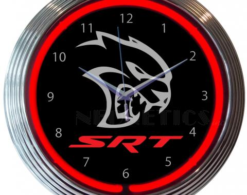 Neonetics Neon Clocks, Dodge Hellcat Srt Neon Clock