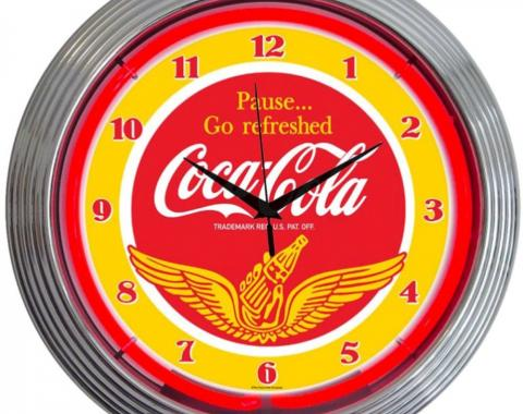 Neonetics Neon Clocks, Coca-Cola Wings Neon Clock