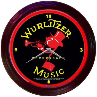 Neonetics Neon Clocks, Wurlitzer Johnny One Note Neon Clock