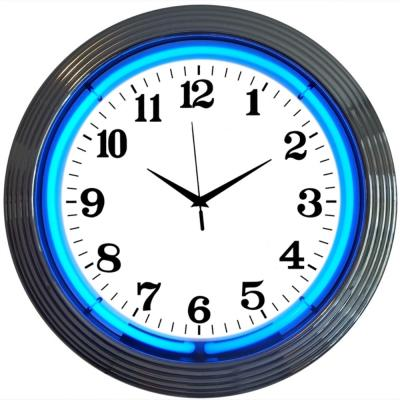 Neonetics Neon Clocks, Chrome Blue Standard Neon Clock