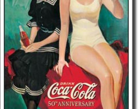 Tin Sign, COKE - 50th Annv. Bathers