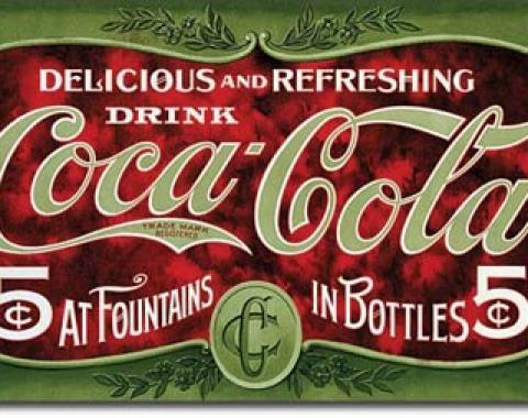 Tin Sign, COKE - 1900's  5 Cent