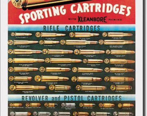 Tin Sign, Remington Cartridges