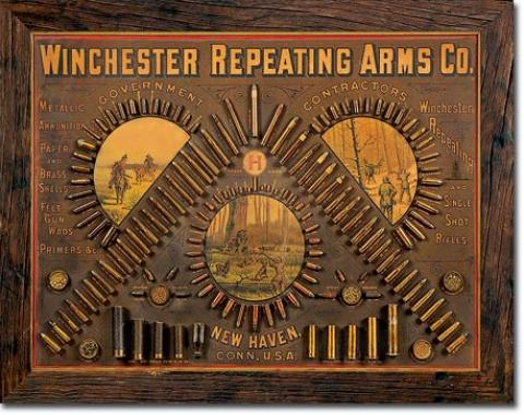 Tin Sign, Winchester - Repeating Arms