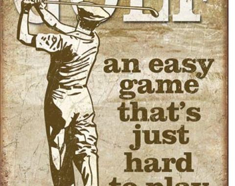 Tin Sign, Golf - Easy Game