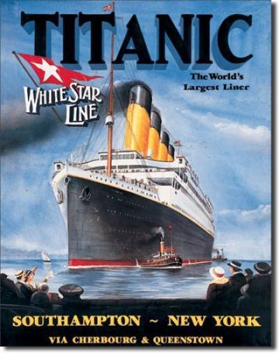 Tin Sign, Titanic - White Star