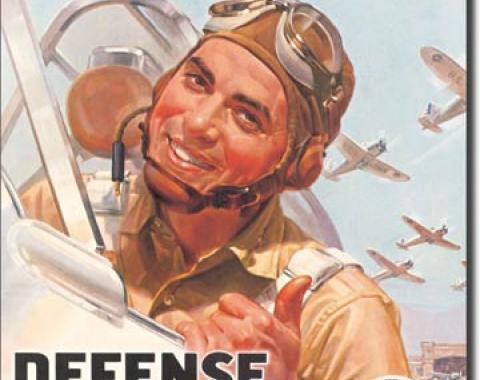 Tin Sign, Defense Bond Stamps - Fly'em
