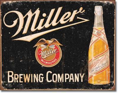 Tin Sign, Miller Brewing Vintage