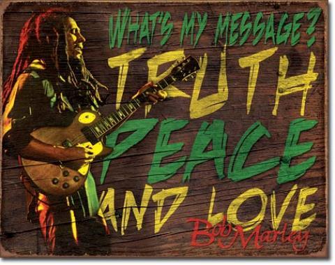 Tin Sign, Bob Marley - Message