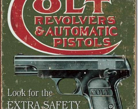 Tin Sign, COLT - Extra Safety