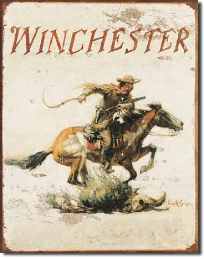 Tin Sign, Winchester Logo