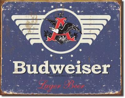 Tin Sign, Budweiser 1936 Logo