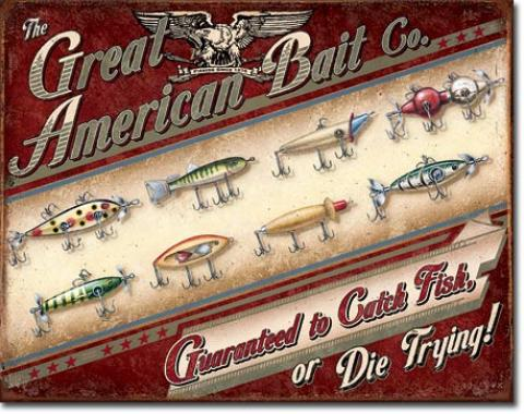 Tin Sign, Great American Bait Co.