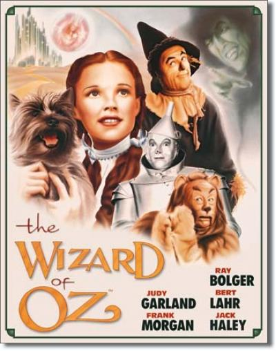 Tin Sign, Wizard of OZ Poster Illustrated
