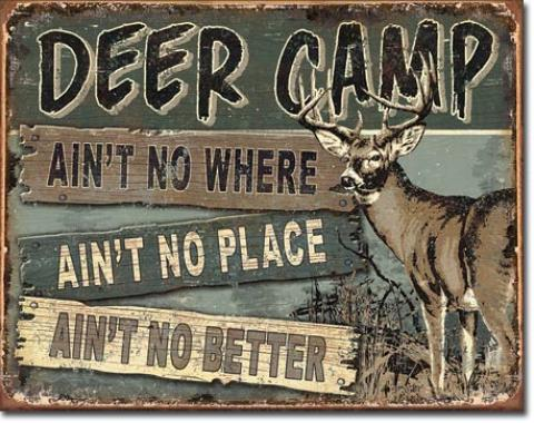 Tin Sign, JQ - Deer Camp