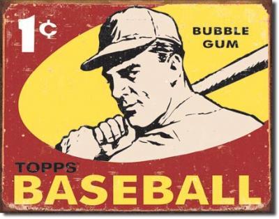 Tin Sign, Topps 1959 Baseball