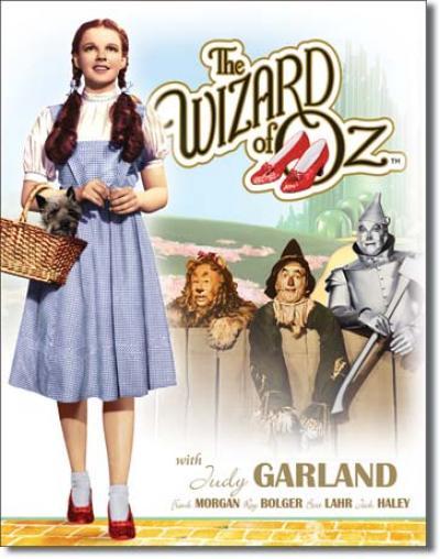 Tin Sign, Wizard of OZ Dorothy w/ Toto