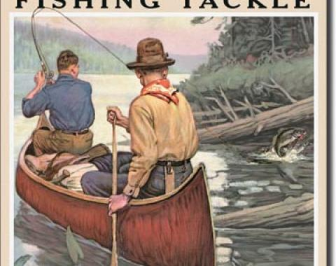 Tin Sign, Win - Fishing Tackle