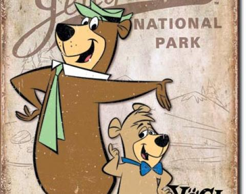 Tin Sign, Yogi Bear - Jellystone Park