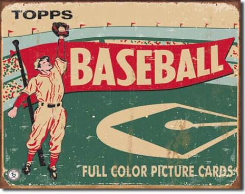 Tin Sign, Topps Baseball 1954