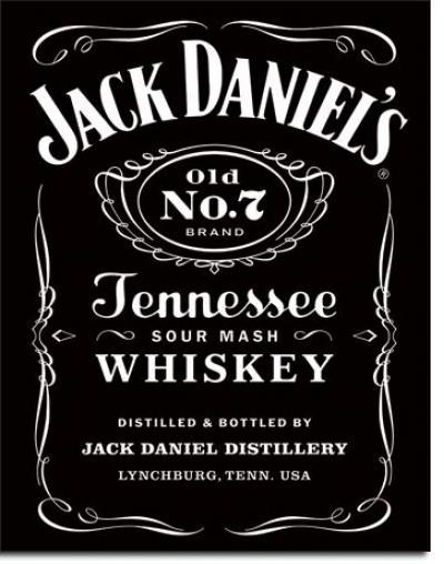 Tin Sign, Jack Daniel's Black Logo