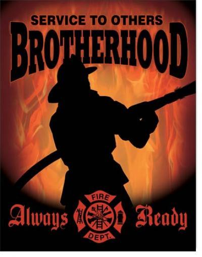 Tin Sign, Firemen - Brotherhood